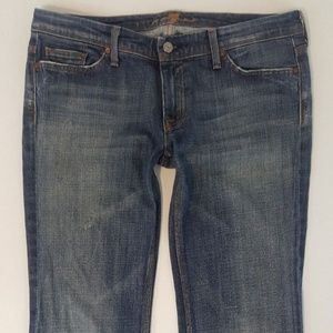 7 For All Mankind Women Boot Cut Jeans Sz 32 34x28